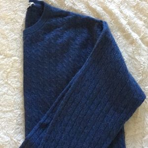Braemar Cashmere Cable Crew Neck Sweater